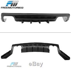 Fit 10-13 Chevy Camaro ZL1 IKON Style Fin Rear Diffuser Lower Cover Chin Spoiler