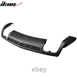 Fit 10-13 Chevy Camaro ZL1 Style Rear Bumper Diffuser Lip Lower Cover Valance
