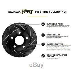 Fit 2010-2015 Chevrolet Camaro Black Hart Full Kit Brake Rotors+Ceramic Pads