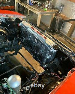 Fit 70-81 Chevy Camaro / 78-87 Monte Carlo 3 Row Radiator Shroud fan Thermostat