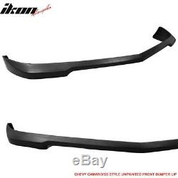 Fits 10-13 Chevrolet Camaro V6 SS Style Front Bumper Lip Unpainted PU