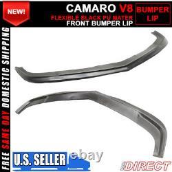 Fits 10-13 Chevrolet Camaro V8 ZL1 Style Unpainted Front Bumper Lip Splitter PU
