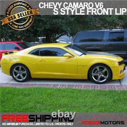 Fits 10-13 Chevy Camaro V6 S Style PU Front Bumper Lip Spoiler