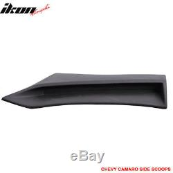 Fits 10-15 Chevy Camaro Side Rear Body Scoops Unpainted Pair PU