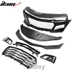 Fits 14-15 Chevy Camaro IKON 5TH to 6TH Gen ZL1 Front Bumper Cover +DRL Foglight