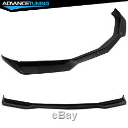 Fits 16-18 Chevy Camaro ZL1 Style Front Bumper Lip Spoiler PP Gloss Black