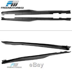 Fits 16-19 Chevrolet Camaro ZL1 Style Side Skirts PP Pair Glossy Black
