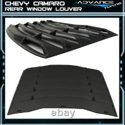 Fits 16-20 Chevy Camaro IKON Rear Window Louver Cover ABS