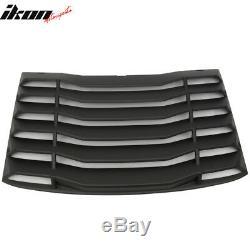 Fits 16-20 Chevy Camaro IKON Rear Window Louvers Cover Sun Shade ABS
