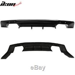 Fits 16-20 Chevy Camaro Rear Bumper Lip Diffuser Quad Exhaust Matte Black
