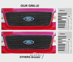 Fits 2010-2013 Chevy Camaro LT/LS V6 Phantom Black Billet Grille Combo Insert