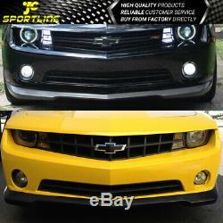 Fits Chevy Camaro 2010-2013 PU Front Bumper lip Spoiler Bodykit SS Style Black