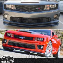 For 10-13 Chevy Chevrolet Camaro SS V8 ZL1 Style Front Bumper Lip Kit PU