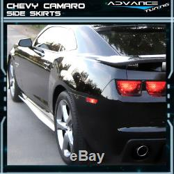 For 10-15 Chevy Camaro Ikon Style Side Skirts Polypropylene (PP) Pair Left Right