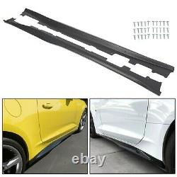 For 16-20 Camaro RS SS EOS ZL1 Style BLACK Side Skirts Panel Extension Body