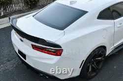 For 16-Up Camaro 1LE Extended Style 3 Pcs Rear Trunk Lid Wing Wickerbill Spoiler