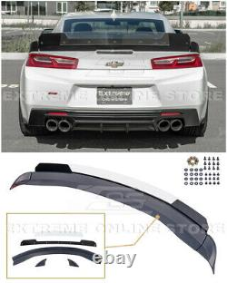 For 16-Up Camaro 1LE Extended Track Style Rear Trunk Lid Wing Wickerbill Spoiler
