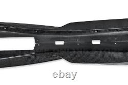 For 16-Up Camaro SS EOS T6 Style CARBON FIBER Front Lip Splitter & Side Skirts