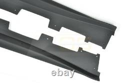 For 16-Up Camaro SS ZL1 Style PLASTIC BLACK Front Lip Splitter & Side Skirts