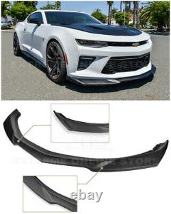 For 16-Up Camaro SS ZL1 Style PRIMER BLACK Front Bumper Lower Lip Splitter