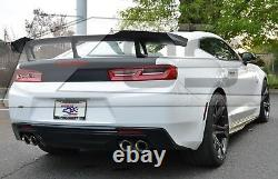 For 16-Up Camaro ZL1 1LE Style Rear Trunk Spoiler Wing ABS Plastic Primered BK