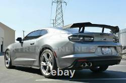 For 16-Up Chevrolet Camaro ABS Primered Black ZL1 1LE Rear Trunk Lip Spoiler