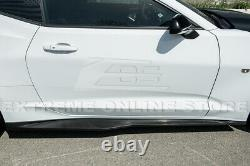 For 16-Up Chevy Camaro Refresh ZL1 Style Front Bumper Lip Splitter & Side Skirts