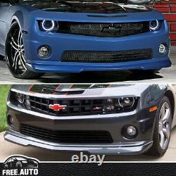 For 2010 2013 Chevy Camaro SS V8 Front Bumper Lip PU Black
