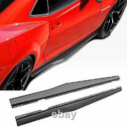 For 2010-2015 Chevy Camaro Side Skirts Extension Lip Rocker Panel Matte Black PP