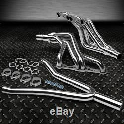 For 82-92 Camaro Sbc At Stainless Steel Long-tube Header Exhaust Manifold+y-pipe