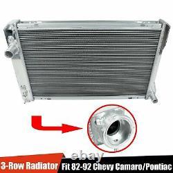 For 82-92 Chevy Camaro/Pontiac Firebird Trans AM V8 3-Row Aluminum Core Radiator
