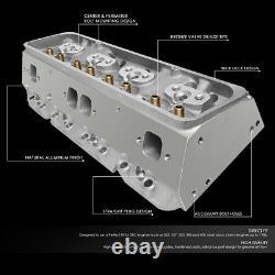 For Chevy Sbc 302/327/350/383/400 200cc Aluminum Cylinder Head 68cc Straight
