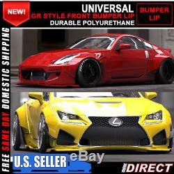 For GR Style Universal Front Bumper Lip Splitter Spoiler FLEXIBLE POLYURETHANE