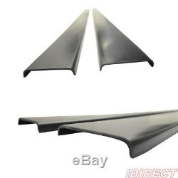For Universal Side Skirt Extensions Rocker Panel Splitters Polyurethane PU