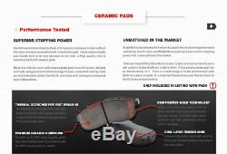 Front+Rear Brake Rotors Ceramic Pads For 1998 2001 2002 Chevy Camaro Firebird