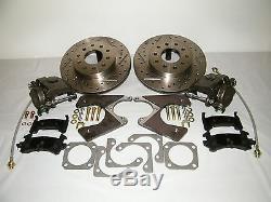 GM 10 & 12 Bolt Rear Disc Brake Conversion Kit Drilled & Slotted Rotors Camaro
