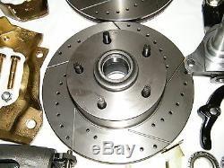 GM Front Disc Brake Conversion Kit Spindles Drilled & Slotted Rotors A, F, X Body