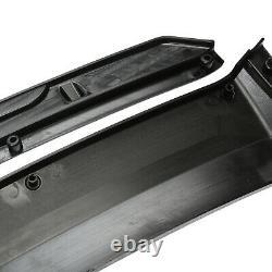 Gloss Black For Chevy Camaro Front Bumper Lip Splitter Spoiler Kit + Strut Rods
