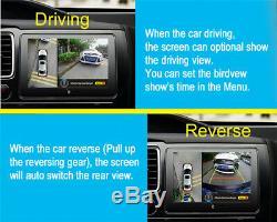 HD 1080P 4 Camera Night Vision Bird View Parking System ADAS Driving Record