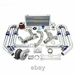 High Performance Upgrade GT45 T4 10pc Turbo Kit Chevy Small Block SBC Engine 350