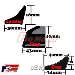 JDM Universal Spoiler Trunk Roof Sporty Wing Lip Chin Roll Side Molding Skirt 3M