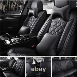 Luxury Car Seat Covers Front+Rear 5-Seats Full Set Cushions SUV Auto Accessories