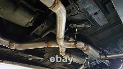 New Performance Universal Crossover X Pipe Exhaust Kit 2.5 Steel Aluminized