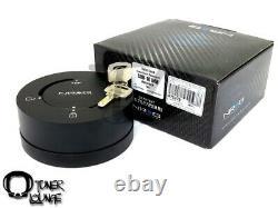 Nrg Steering Wheel Hub Matte Black Quick Release Lock Kit With Key Srk-101mb