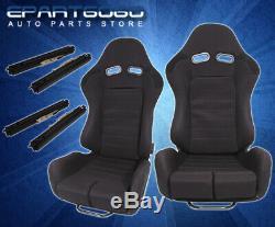 One Pair Full Reclinable Black Style Racing Seats Drag Circuit Drift 1Pair Black