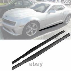 Pair Side Skirts Extention Add-on Body Kit For 2010-2015 Chevy Camaro LT LS SS