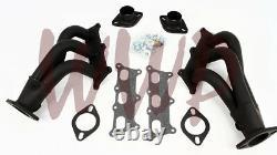 Performance Black Coated Exhaust Header Manifold Kit 10-11 Chevy Camaro 3.6L V6