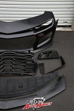 Pre Order 2010-2015 Chevy Camaro Zl1 1le Front Bumper Conversion 9pc Full Kit