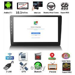 Quad-Core Android 8.1 10.1 2Din Car Stereo Radio GPS Wifi LTE BT DAB OBD 1+16G