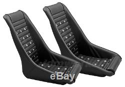 RETRO CLASSIC KPGC10 VINTAGE RACING BUCKET SEATS (Perforated With Grommets) PAIR